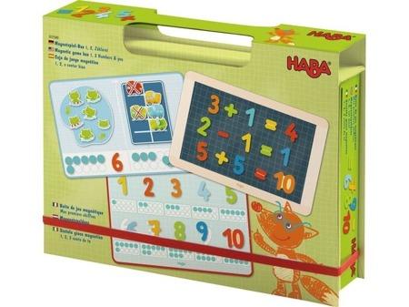 Gra magnetyczna 1,2, 3 Numery i Ty, nauka liczenia, dodawania, HABA