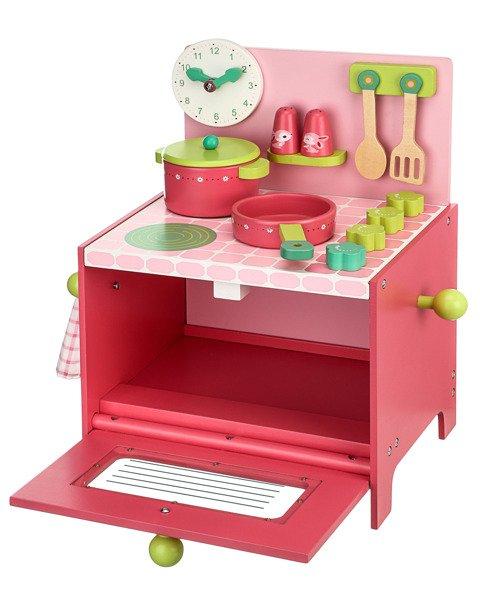 drewniana kuchnia lili kuchenka do zabawy dla dzieci z akcesoriami djeco zabawki edukacyjne. Black Bedroom Furniture Sets. Home Design Ideas