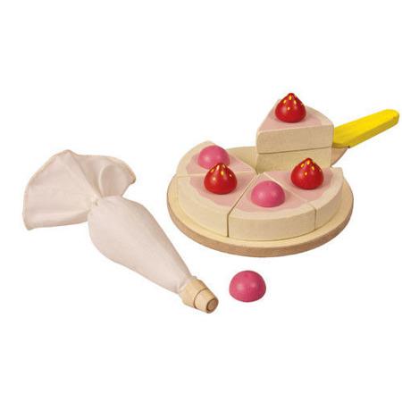 Tort, zestaw do zabawy w sklep i gotowanie, akcesoria do pieczenia tortu, Plan Toys