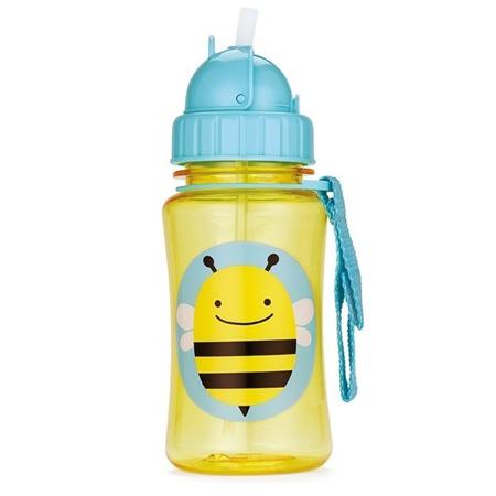 Bidon ze słomką - zamykany kubek do picia na spacery Pszczoła, SKIP HOP
