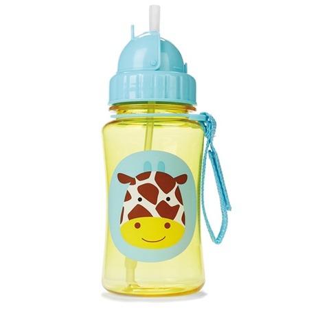 Bidon ze słomką - zamykany kubek do picia na spacery Żyrafa, SKIP HOP