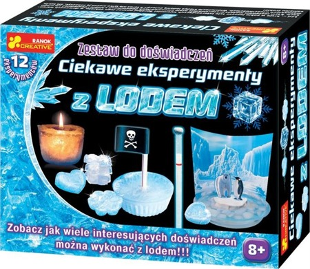 Ciekawe eksperymenty z lodem - doświadczenia dla dzieci, 8 lat +, RANOK-CREATIVE