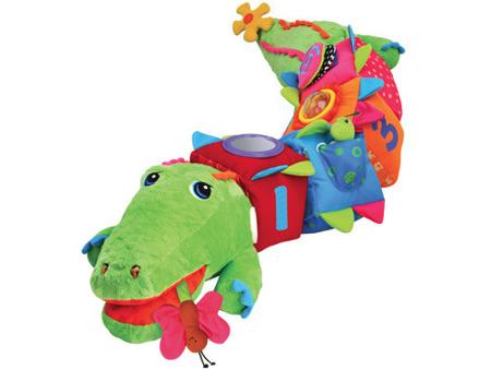 CrocoBloco krokodyl - edukacyjny krokodyl z metkami i elementami pobudzającymi do aktywności, K's Kids