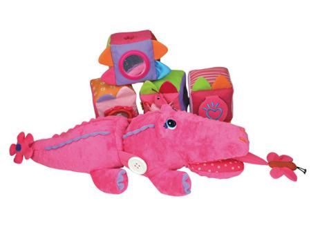 CrocoBloco pani krokodyl - edukacyjny krokodyl z metkami i elementami pobudzającymi do aktywności, K's Kids
