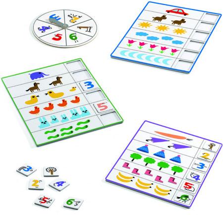 Gra bingo Liczby - nauka liczenia w grze, 4 lata +, DJECO