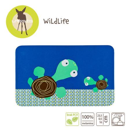 Deseczka śniadaniowa dla dzieci, tacka Wildlife Żółw, Lassig