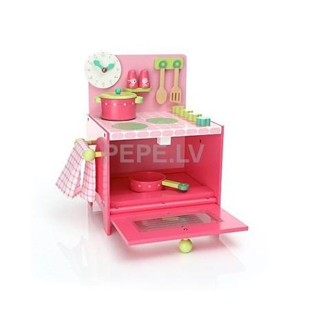 Drewniana Kuchnia Lili - kuchenka do zabawy dla dzieci z akcesoriami, Djeco