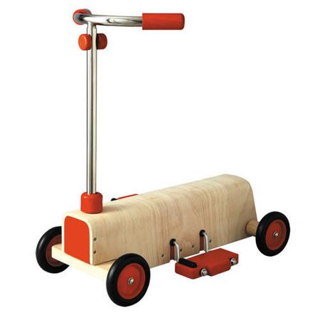 Drewniana hulajnoga z pedałami - hulajnoga zdrewna 3 lata+ Plan Toys