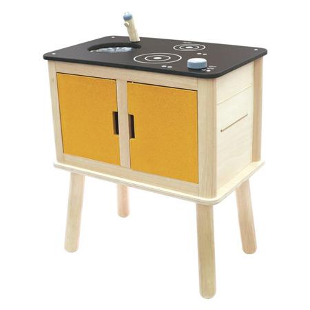 Drewniana nowoczesna kuchnia dla dzieci - ekologiczna kuchenka do zabawy, Plan Toys