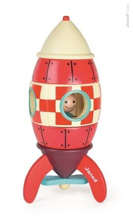 Drewniana rakieta magnetyczna XXL - duża rakieta, prom kosmiczny, Janod