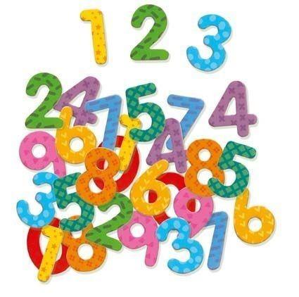 Drewniane cyfry magnetyczne dla dzieci - cyferki do nauki liczenia, DJECO DJ03103