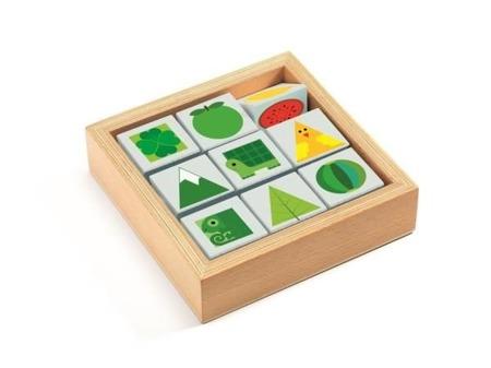 Drewniane klocki - sorter kolorów i kształtów, DJECO DJ06204