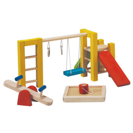 Drewniane mebelki dla lalek Plac zabaw - mebelki do domku dla lalek, Plan Toys
