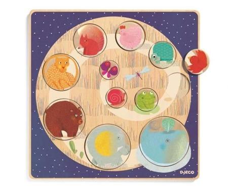 Drewniane puzzle do nauki kolorów i kształtów LUDI & CO, DJ01806 N DJECO