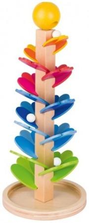 Drewniany dźwiękowy kulodrom dla najmłodszych - tor dla kulek, GOKI