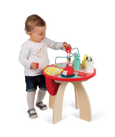 Drewniany stolik edukacyjny duży 12m+ Baby Forest, JANOD