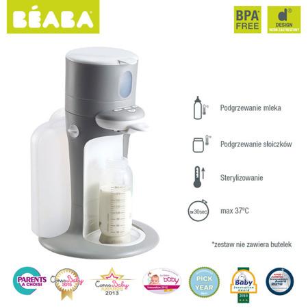 Ekspres do mleka 3w1 - podgrzewacz, sterylizator, grey, Bib'expresso® , BEABA