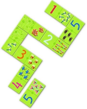 Gra domino z liczbami, nauka liczenia - gra 4 lata +, DJECO DJ08168