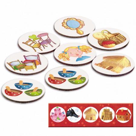 Gra pamięciowa MEMO BAJKI dla dzieci, 4 lata +, DJECO DJ08466