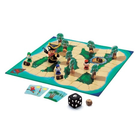 Gra taktyczna, planszowa Piraci 5 lat +, DJECO DJ08423