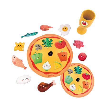 """Gra zręcznościowa dla dzieci - """"szybka pizza (Speed pizza)"""", Janod J02782"""