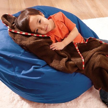 Koc w plecaku - rozkładany, podróżny koc dla dzieci z motywem Zoo Małpa, SKIP HOP