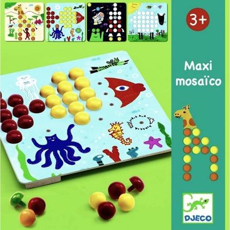 Kolorowa mozaika MAXI - zestaw kreatywny dla dzieci, DJECO DJ08141