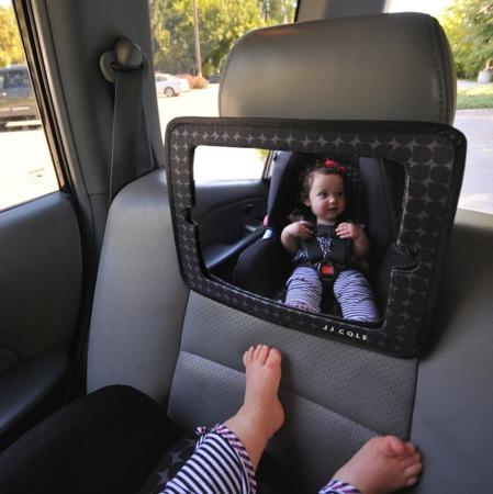 Lusterko i uchwyt na tablet  2w1 - panoramiczne lusterko na zagłówek samochodowy, JJ Cole