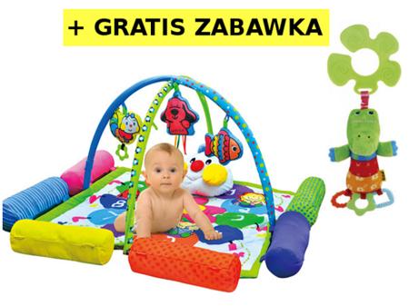 Mata edukacyjna z poduszkami i pałąkami Wesoła Gąsienica - mata dla niemowląt K's Kids