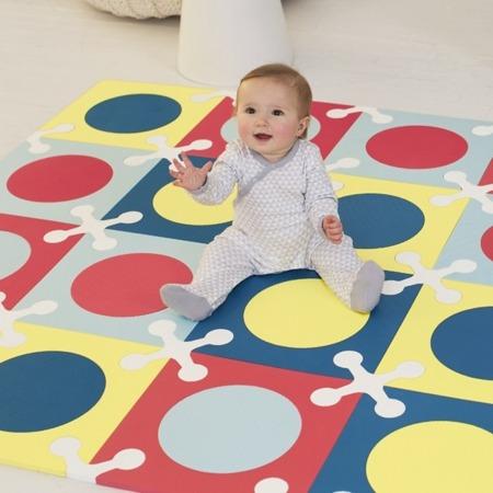 Mata piankowa dziecięca, niemowlęca - dywanik z pianki Playspot Multi Mix, SKIP HOP