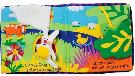Miękka książka interaktywna, edukacyjna dla niemowląt 0m+, Manhattan Toy