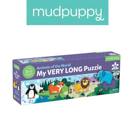 Metrowe puzzle Zwierzęta Świata 30 elementów 3+, Mudpuppy