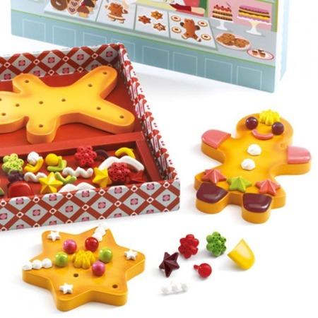 Pierniczki dla dzieci do ozdabiania - pierniczki bożonarodzeniowe z drewna, DJECO