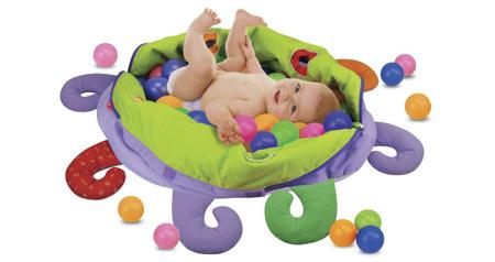 Pluszowa ośmiornica z piłeczkami - mata, basenik, 60x piłeczki, zestaw, K's Kids
