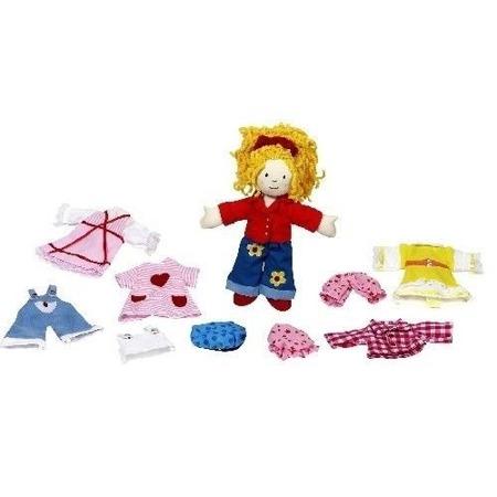 Przebieranka Dziewczynka Karry - szmaciana laleczka z ubrankami do przebierania, GOKI