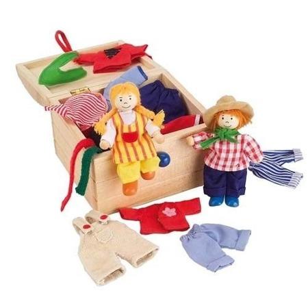 Przebieranka dzieci - zestaw z ubrankami do przebierania laleczek, Goki 51896