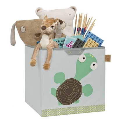 Pudełko na zabawki - pudło do przechowywania zabawek w pokoju dziecka Wildlife Żółw, Lassig