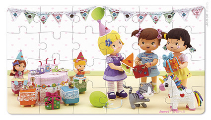 Puzzle 2w1 Julia świętuje urodziny, Janod