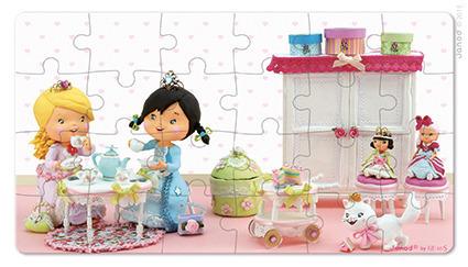 Puzzle 2w1 Róża bawi się w księżniczkę, Janod