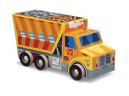 Puzzle 48 el., auto - wywrotka, ciężarówka, 4 lata +, Crocodile Creek