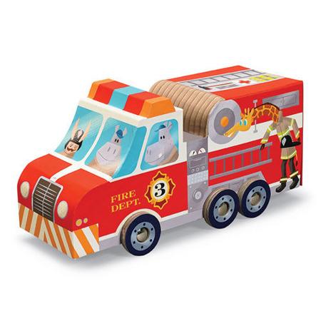 Puzzle Straż Pożarna, 24 el. - samochód strażacki, 4 lata +, Crocodille Creek