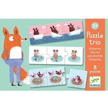 Puzzle edukacyjne - puzzle TRIO historyjki dla dzieci, DJECO