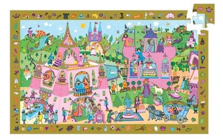 Puzzle - obserwacja, zamek księżniczki, 54 el., 4 lata +, DJECO DJ07556