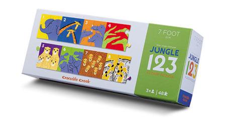 Puzzle podłogowe LICZBY 123... wzdłuż pokoju długie 2,3 m, Crocodile Creek