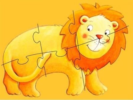 Puzzle podłogowe zwierzęta egzotyczne 6 szt. 130 cm! - Marmoset i przyjaciele, DJECO DJ07114