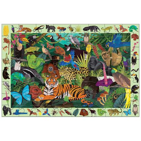 Puzzle szukaj i znajdź - puzzle obserwacyjne Las tropikalny 64 elementy 4+, Mudpuppy