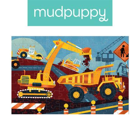 Puzzle z błyszczącą folią Budowa 100 elementów 3+, Mudpuppy
