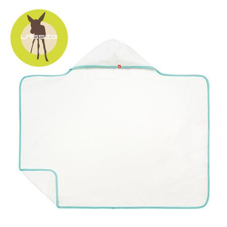 Ręcznik kąpielowy z kapturem White - okrycie kąpielowe dla małych dzieci, Lassig