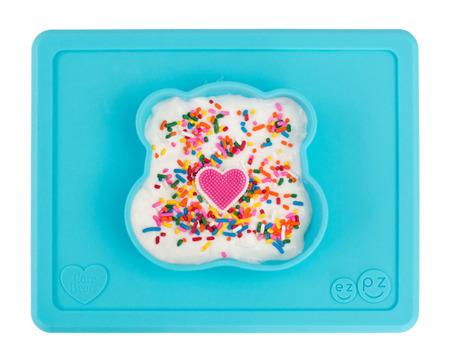 Silikonowa miseczka z podkładką 2w1 Care Bears™ Bowl Misia Życzliwe Serce Wish Bear turkusowa, EZPZ