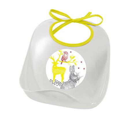 Śliniak niemowlęcy do karmienia z kieszonką Bunny - tworzywo sztuczne, Beaba